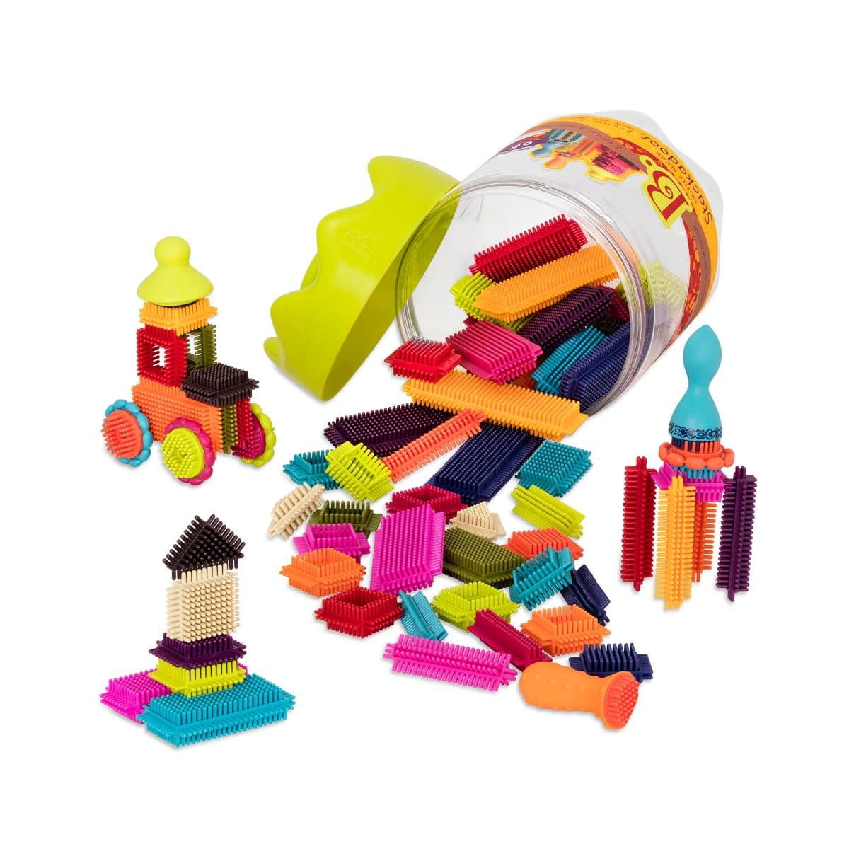 Image of B. toys - Bristle Blocks Stackadoos – STEM Toys for Kids 2 years - Recommended by Child Behavior Clinic