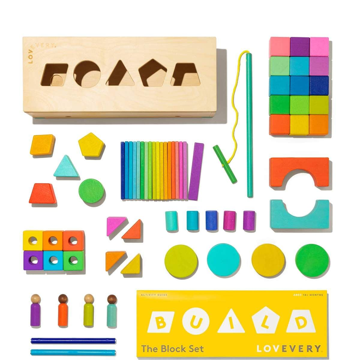 The Block Set by Lovevery – Solid Wood Building Blocks and Shapes
