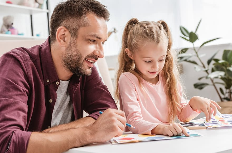Child Behavior Clinic - Happy Father and Daughter