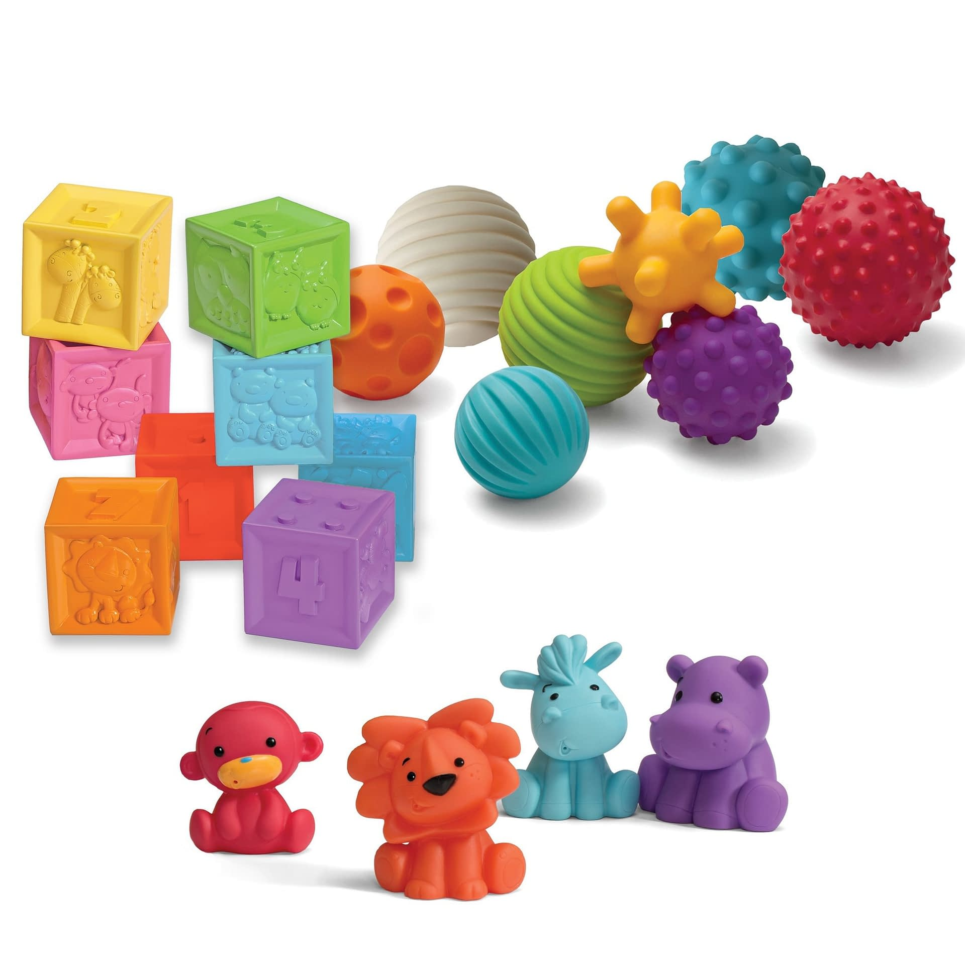 Image of Infantino Sensory Balls Blocks and Buddies - Recommended by Child Behavior Clinic