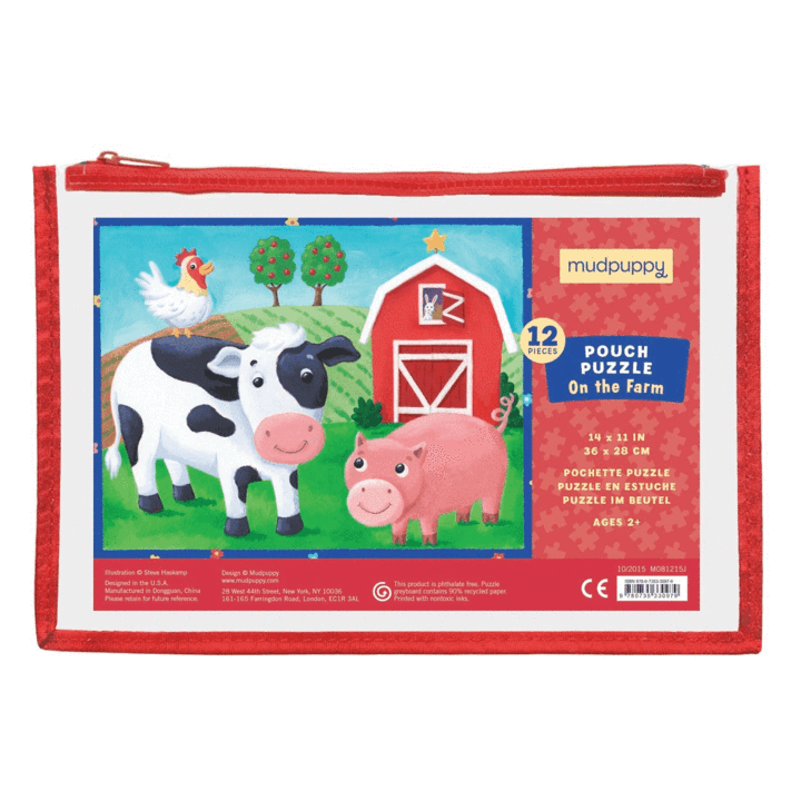 Image of Mudpuppy Pouch Puzzle - On the Farm - Recommended by Child Behavior Clinic