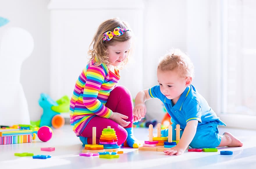 Image of 2-Year-Olds Playing With The Best Toys Recommended by Child Behavior Clinic
