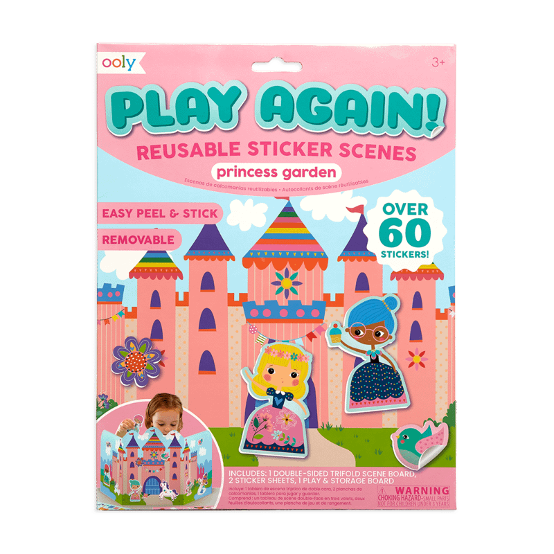 Image of Ooly Play Again Reusable Stickers - Princess Garden - Recommended by Child Behavior Clinic