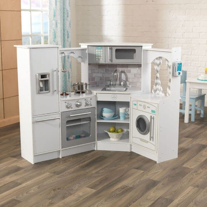 Image of KidKraft Ultimate Corner Play Kitchen Set - Recommended by Child Behavior Clinic