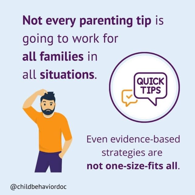 """Save for when you need this reminder! Or for when you find yourself wondering, """"but why isn't that tip working for me? It's even evidence-based!"""" ⠀ Real talk. We've been having a lot of screaming fits at our house lately. Mostly the kids, but sometimes mom (hey, it happens, 🤦🏻♀️ we all lose our cool sometimes.) ⠀ I try to lead with validation to show I understand. """"You're nervous to go sledding because you've never done that before."""" -""""YES!"""" and then more shouting of, """"I don't want to!"""" ⠀ Validation helps others to feel seen and understood and turns down the volume on big emotions. AND at the same time, a lot of validation might draw MORE attention to the behavior. Saying """"you're nervous about sledding"""" a lot, without commenting on any brave steps, is not likely to get her in the sled. ⠀ Another example - CBT is the gold standard treatment for anxiety in kids. Research shows that it's 60-70% effective for a clinical reduction in symptoms. It's the best tool we have, yet some factors play a role in how effective it will be. ⠀ Parent/kid temperament, history of the problem, consistency, previous strategies tried, parent/kid motivation, relationship patterns, environment, development, stressful events, and so many more, all affect how well parenting tips will work. ⠀ So what should you do when you're trying a new strategy? Start with this: ⠀ 1) Try to take a bird's eye view. What else is at play here? ⠀ 2) Put yourself in your kid's shoes. What is this like for her? ⠀ 3) Be consistent in the use of the strategy (give it a few weeks). Pay attention to overall patterns. ⠀ 4) Use your parent gut. Does something just feel off here? A more individualized approach, with a trained professional, might be what you need to get back on track. ⠀ I provide 1:1 parent coaching to help parents with exactly that - developing an individualized approach to what's getting in the way, whether it be anxiety or another parenting struggle. Send me a DM if you'd like more info. ⠀ . . . ⠀ #chi"""